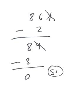 Ejemplo de la regla de divisibilidad del 7