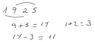 Regla de divisibilidad del 11